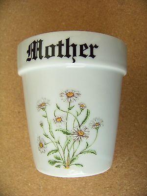 Mother ceramic white flower pot 3.5