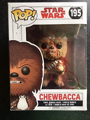 Star Wars Signed Funko Pop- Chewbacca- Joonas Suotamo