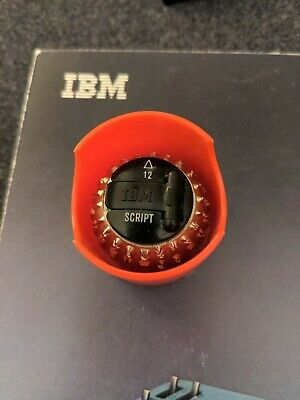 Ibm Selectric I Ii Typewriter Element- Script 12 Point 72 Used
