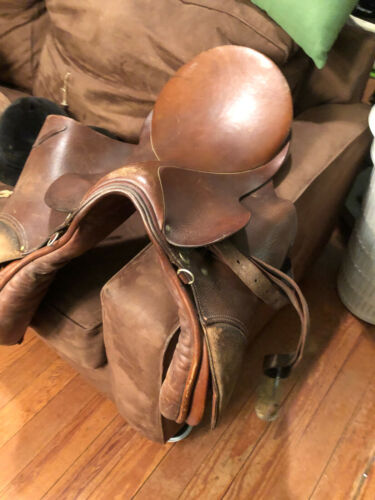 WRY5017 Antique Leather Bill Purcell All Purpose Saddle UShip or Local Pickup
