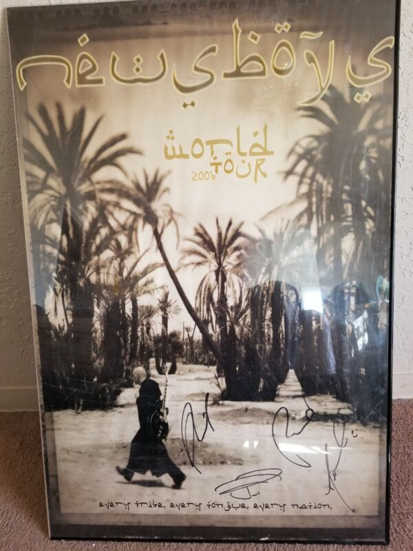 Newsboys World Tour Poster 2006 autographed 36 x 24 stunning poster JESUS LIVES!