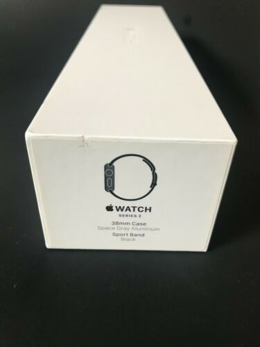 Empty APPLE WATCH BOX Series 2 Space GRAY 38mm *Empty Box Only* No Watch
