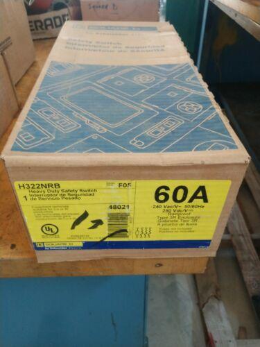 Square D H322NRB Heavy Duty Safety Switch 60-Amp 240V 60A NEMA 3R