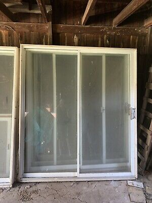Sliding Outdoor Glass Door With Screen 7'x6'        See Description LOCAL -