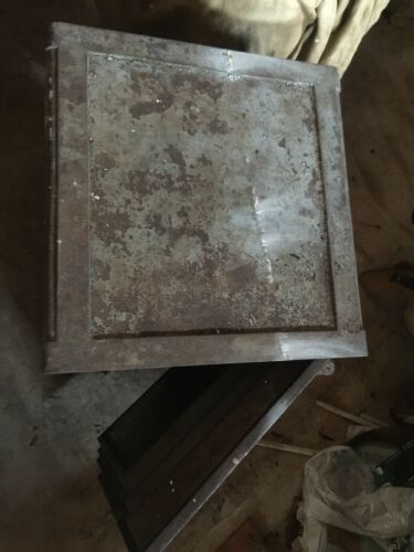 Antique Vintage Halls floor safe 36 by 24 Double Locking