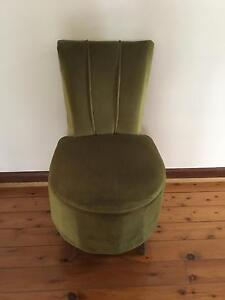 Antique Green Velvet powder room chair $150 Summer Hill Ashfield Area Preview