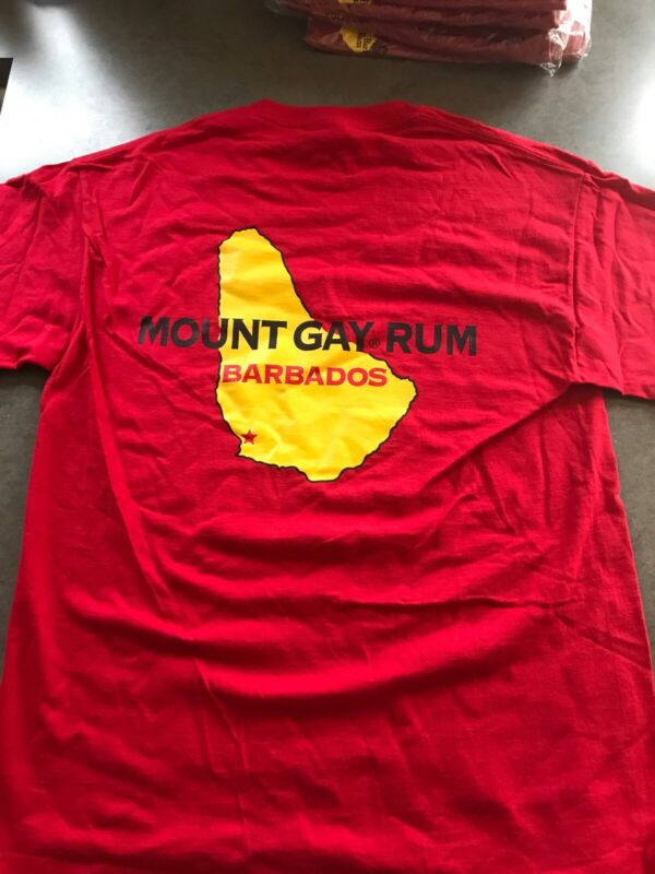 Mount Gay Rum T Shirt Size Med/ Or /extra Large NWOT Red Sailing Regatta ⛵️SALE!