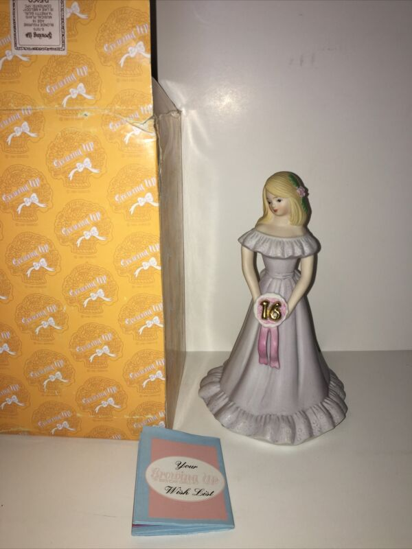 1981 Enesco Growing Up Birthday Girls Sweet 16 Music Box 7273