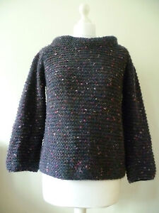 NEW BENETTON WOMENS PURPLE KINT JUMPER SIZE SMALL