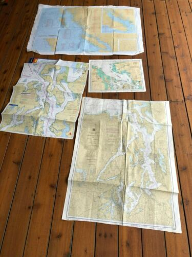 Lot of Nautical Chart Maps Inland  Puget Sound San Juans Vancouver NOAA 18440