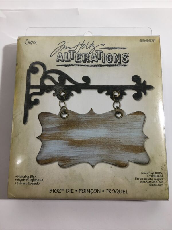 Sizzix Tim Holtz Alterations Collection Hanging Sign BIGZ Die 656631