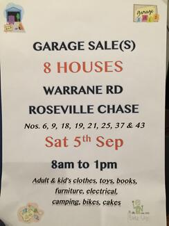 Mega 8 Garage Sale(s) 8 Houses Warrane Rd, Roseville Chase Roseville Chase Ku-ring-gai Area Preview