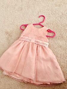 Baby girl pink lacy dress