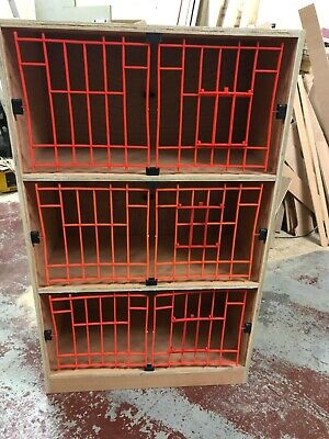 pigeon widowhood nesting boxes plywood set of 3 breeding cages assembled
