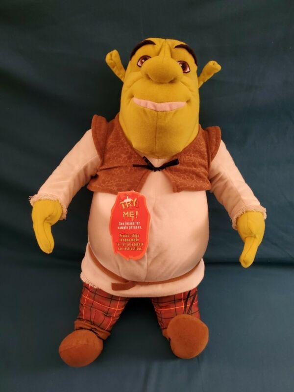 "Shrek 2 Talking Ogre 14"" Plush Stuffed Toy Hasbro 2003 DreamWorks Working"