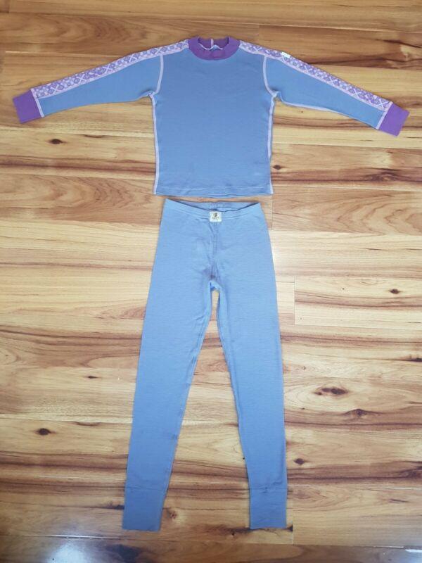 Janus Scandinavian Thermal 100% Merino wool Baselayer Set Size 7-8 Years