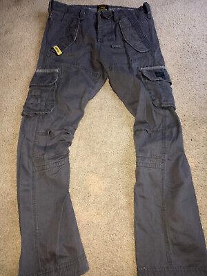 Superdry mens cargo heavy pants gray 32/M