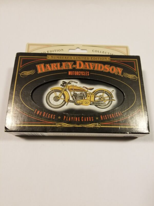 Harley Davidson Playing Cards In Tin Limited Edition