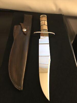 AL WARREN CUSTOM BOWIE KNIFE-OOSIC HANDLE-LOVELESS INSPIRED
