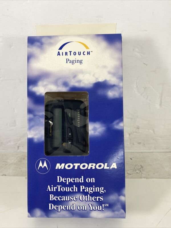 Vintage Black Motorola AirTouch Beeper Pager - New & Rare