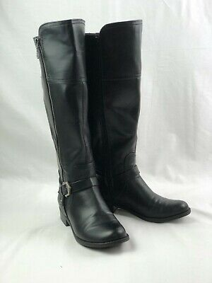 Guess Boots Black Faux Leather Ladies Sz 9M Preowned Knee Height Riding (Guess Ladies Boots)