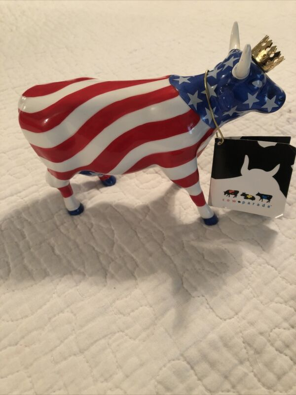 "Cow Parade #9189 ""AMERICAN ROYAL"", Westland Giftware"
