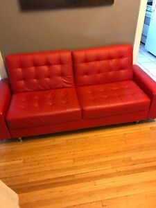 Red sofa/loveseat
