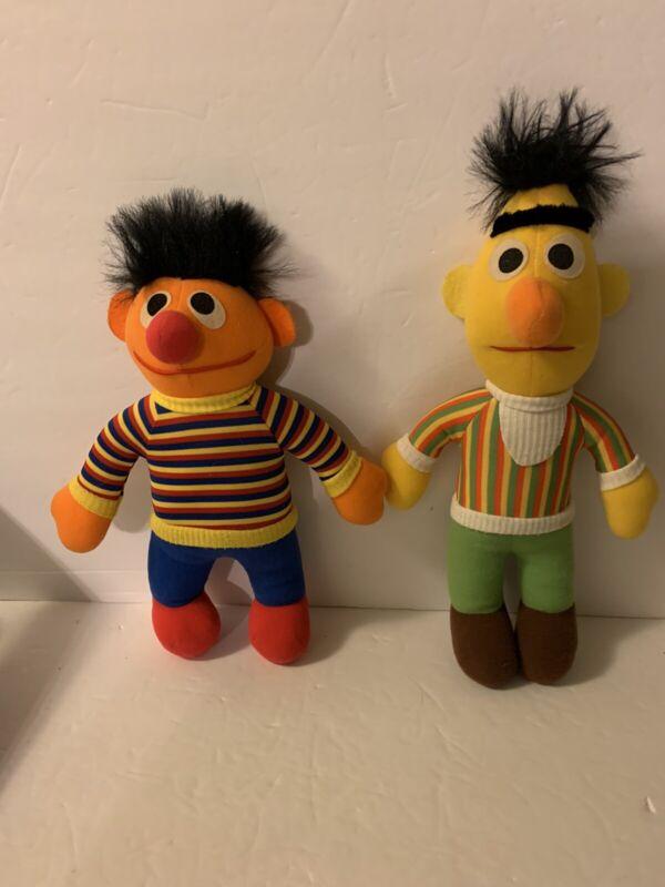 VINTAGE BERT & ERNIE STUFFED DOLLS 1984 SESAME STREET PLAYSKOOL HASBRO