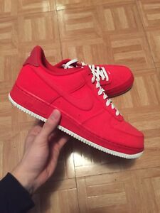 Air Force 1 low red suede size 11.5