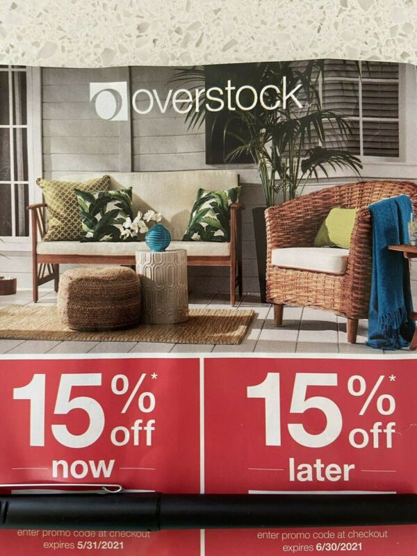 Overstock.com Coupon 15%~Promo Code FAST txt3133197370