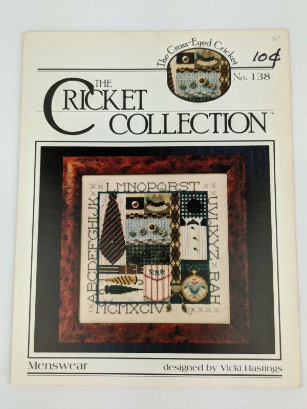 The Cricket Collection Menswear  Cross Stitch Pattern Chart No. 138