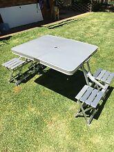Folding aluminium picnic table Whitebridge Lake Macquarie Area Preview