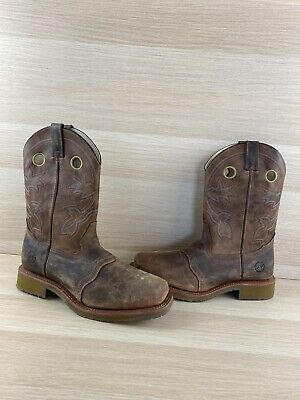 Double H ICE Brown Leather Composite Toe Western Work Boots Men's Size 11.5 EE