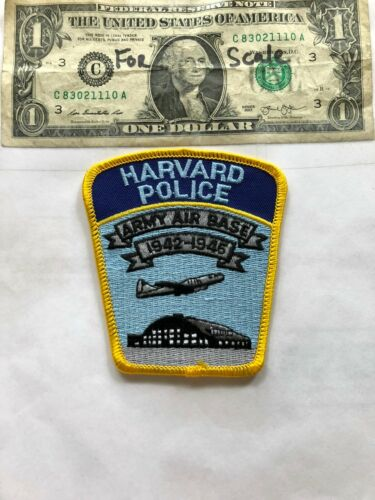 Harvard Nebraska Police Patch (Army Air Base) Un-sewn in great shape