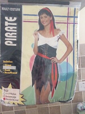 Ladies Pirate Girl Costume for Halloween Living Dead Fancy Dress Outfit Adult