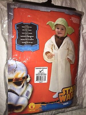 Star Costume For Toddlers (Rubies Star Wars Yoda Toddler Costume For 24 Months  NEW in)