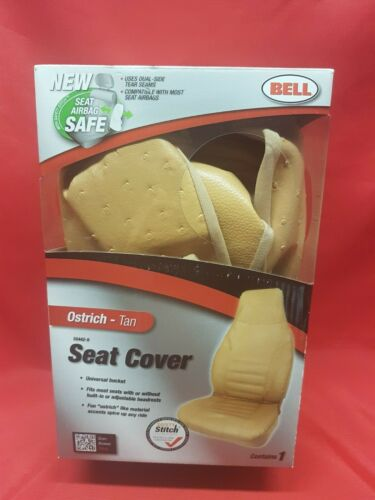 Bell Seat Cover, Tan Ostrich Ub Seat Cover  - 1 Each