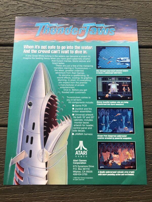 Thunder Jaws Atari  ARCADE VIDEO GAME FLYER NOS