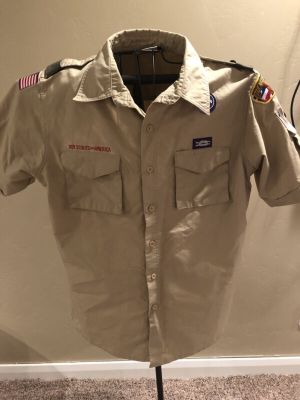 BSA Boy Scout Uniform Mens Shirt Adult Medium