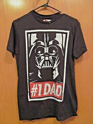 DARTH VADER #1 DAD~Black Short Sleeve tee~Men's Size Small~NEW w/tags Dad Short Sleeve Tee