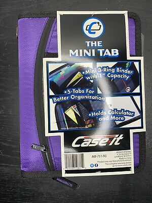 Case-it Mini 3- Ring Binder With 1 Capacity Violet