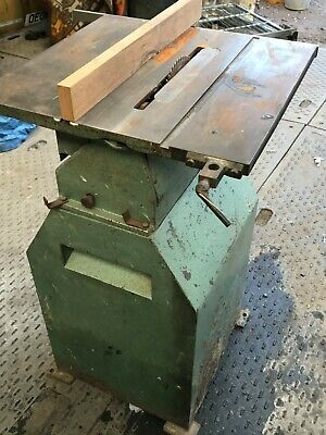 Vintage Table bench saw used Home made  S. TYZACK & SON LTD working looks posh