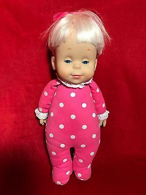 Mattel 1984 Talking Drowsy Baby Doll Says 6 Phrases