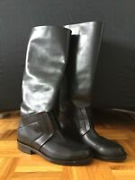 Knee high boots, black, size 36