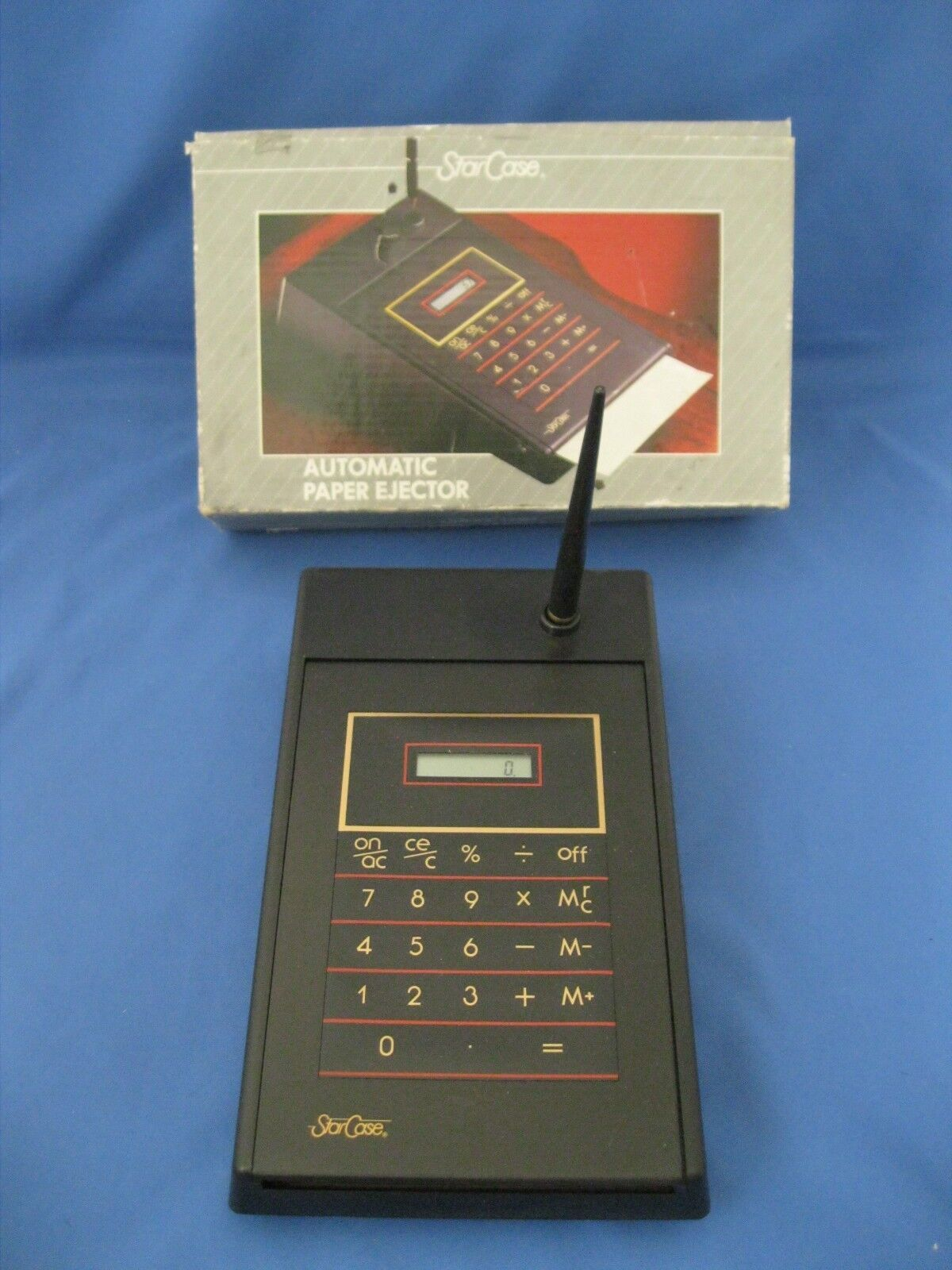 VINTAGE STAR CASE AUTOMATIC PAPER EJECTOR & CALCULATOR~WORKS~NIB