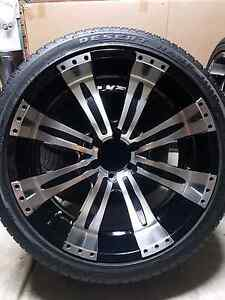 """22 """" 6 stud  Rims  & tyers.  Fits all 4wd / 139.7pcd Woodville Gardens Port Adelaide Area Preview"""