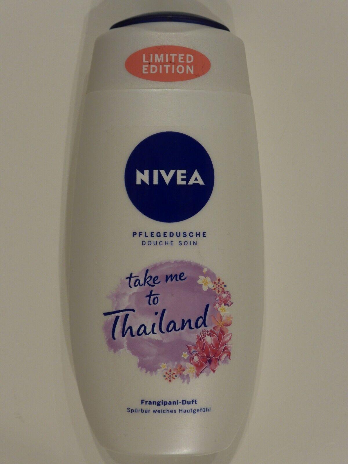 (3,60 € je 100ml) NIVEA - Pflegedusche TAKE ME TO THAILAND Frangipani Duft 250ml