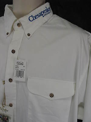 Walls Authentic Ranch Wear White Xl Button Down Mens Shirt Chesapeake Energy