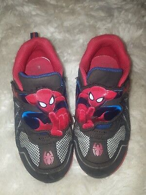 Marvel Kids SpiderMan Light Up Shoes Sneakers Youth Size 10 - Spiderman Light Up Sneakers