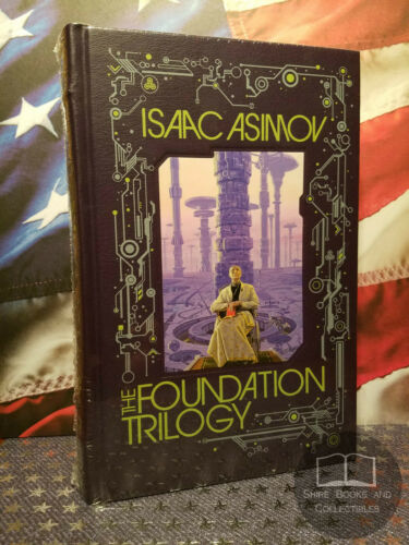 NEW SEALED The Foundation Trilogy by Isaac Asimov Bonded Leather - 3 Novels in 1